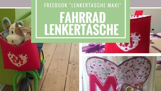 Puky Fahrradlenkertasche nähen nach Freebook Lenkertasche Maxi