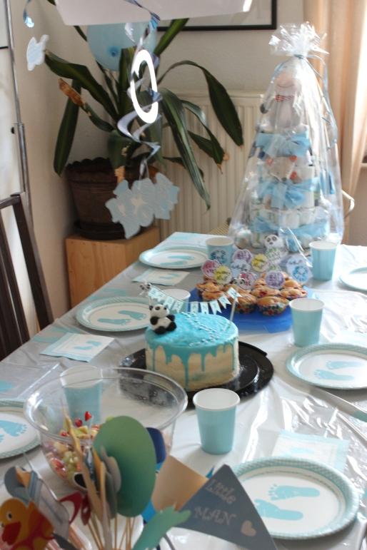 Babyshower Tischdekoration für einen Jungen