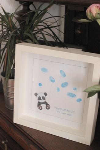 Babyshower Gästebuch mit Fingerabdrücken