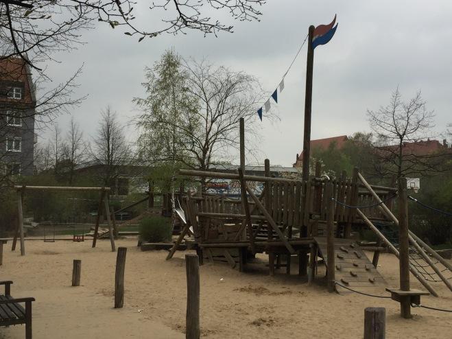 Piratenspielplatz in Weißensee noch in Funktion