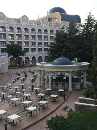 Aussicht von der Hobbyterrasse, Clubhotel RIU Helios Paradise