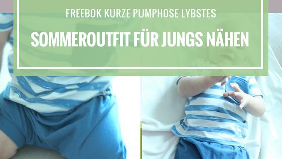 Freebook Sommeroutfit Jungen bestehend auf kurzer Pumphose Lybstes und Quatschkopf T-Shirt