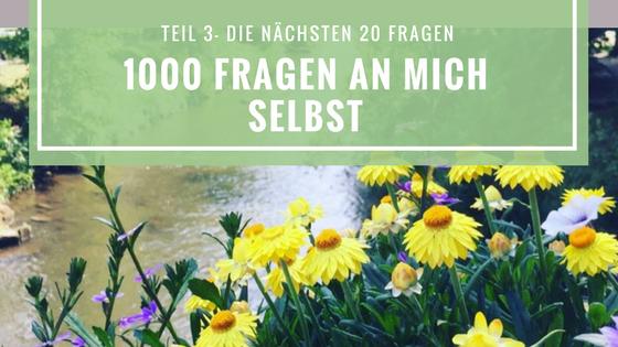 Blogtitelbild mit Blumen zu 1000 Fragen an mich selbst